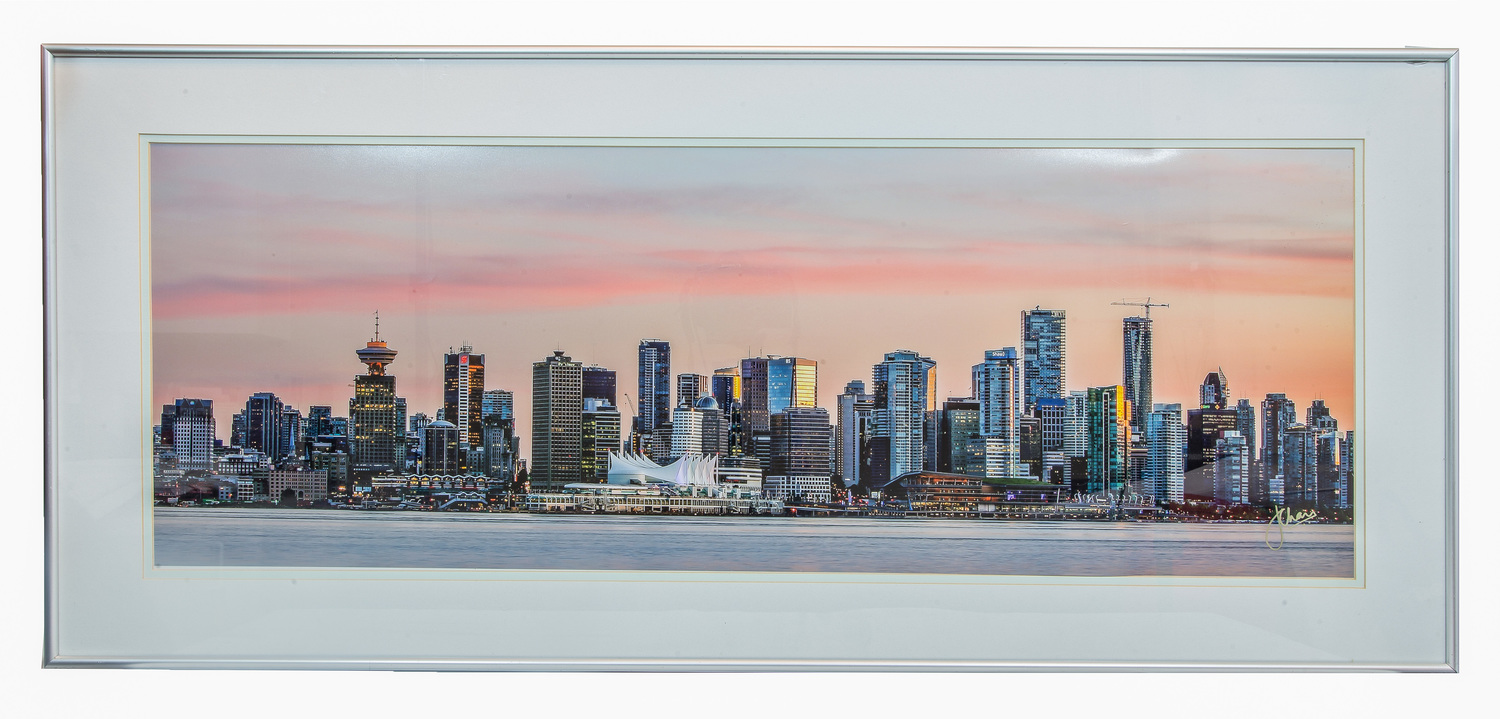 Color printing downtown vancouver - Vancouver Sunset Skyline Framed Limited Prints Available Of This Stunning Shot Of The Vancouver