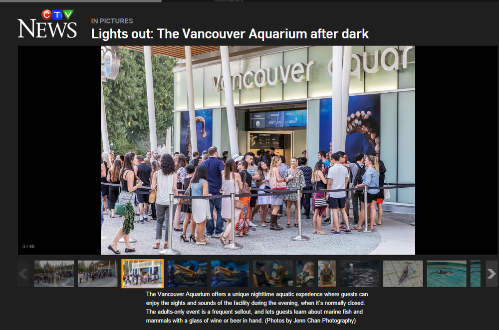 CTV: Vancouver Aquarium Afterhours