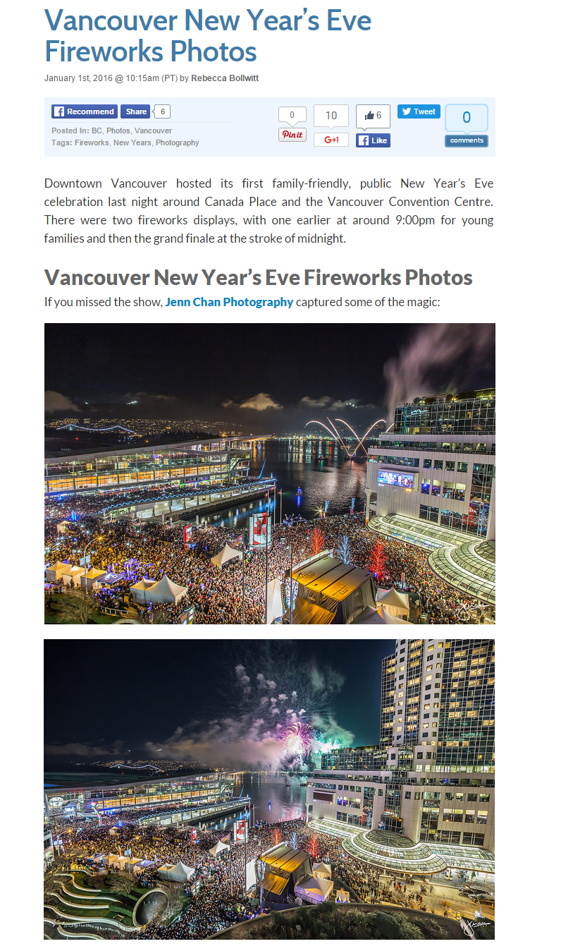 "Miss604 ""Vancouver New Year's Eve Fireworks Photos"""