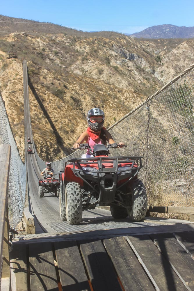 ATV Riding Across Los Cabos Canyon Bridge