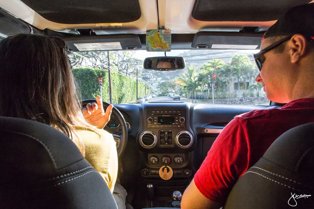 Inside the Jeep with Oahu Spot Tours