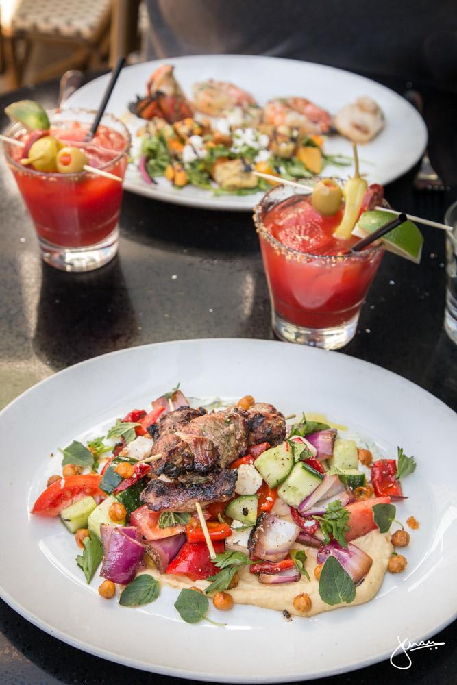 Lamb Salad & Seafood Trio