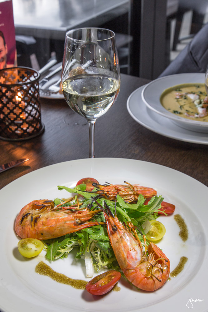 Grill Spot Prawns paired with Unsworth Allegro