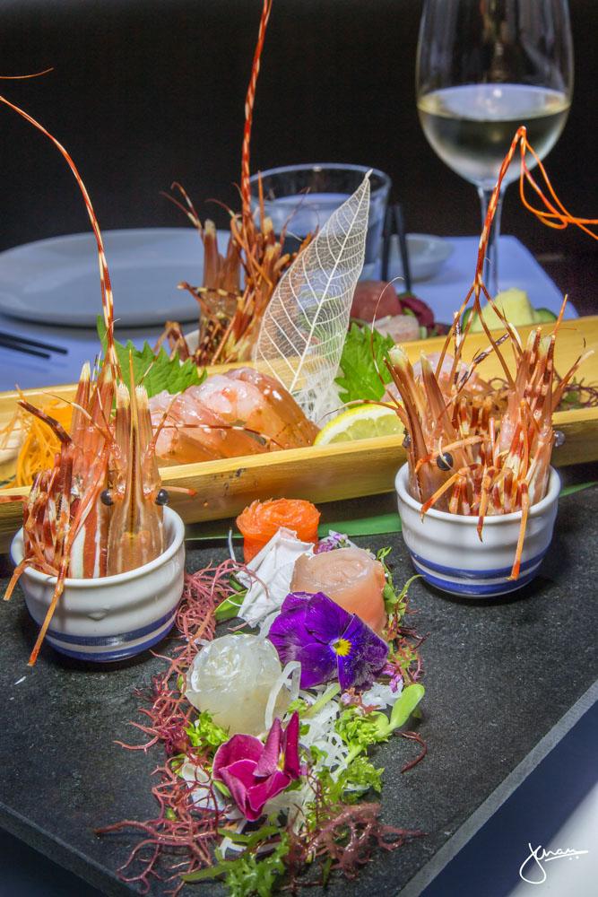 Spot Prawn Sashimi Platter