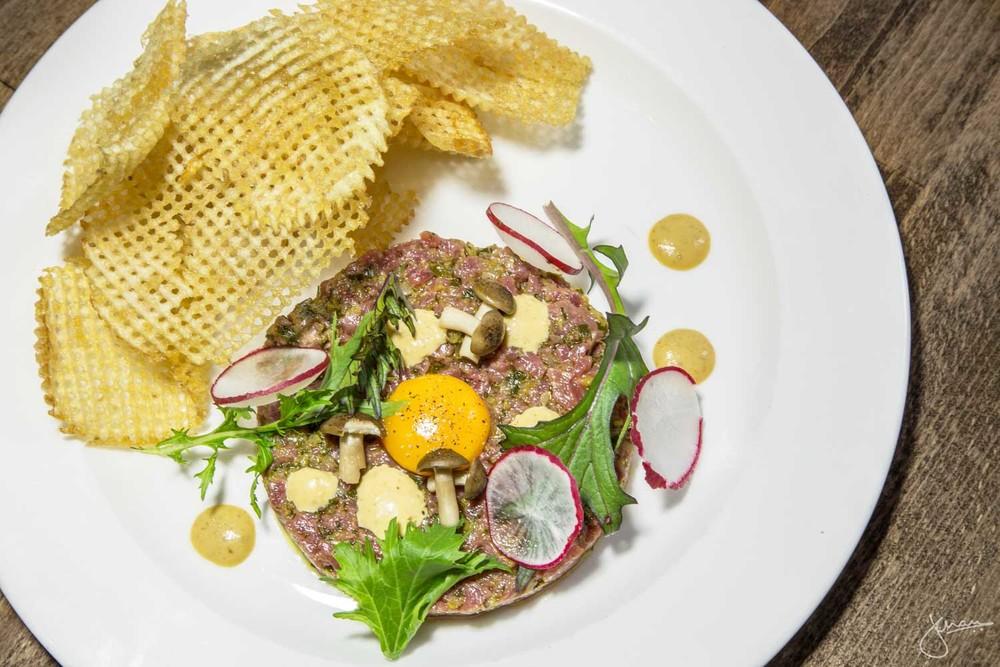 Steak Tartare - Quail Egg, Pomme Gaufrette