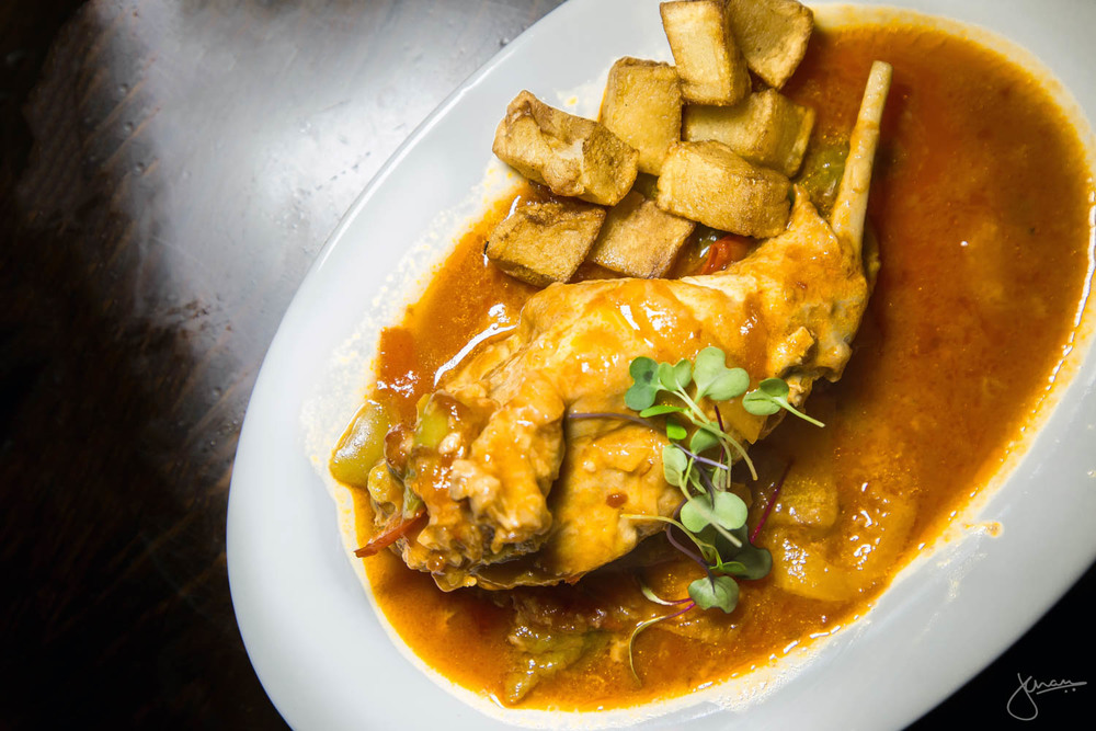 Conejo Riojana - Slow Cooked Rabbit, Tomato and Wine Sauce