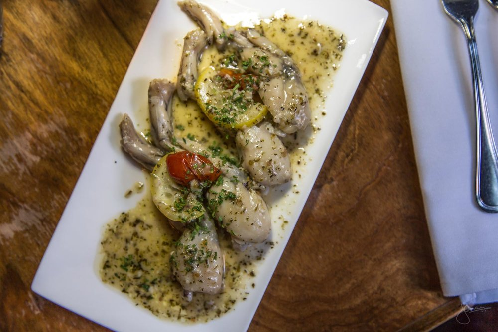 Frog Legs with Herb Garlic Butter Sauce