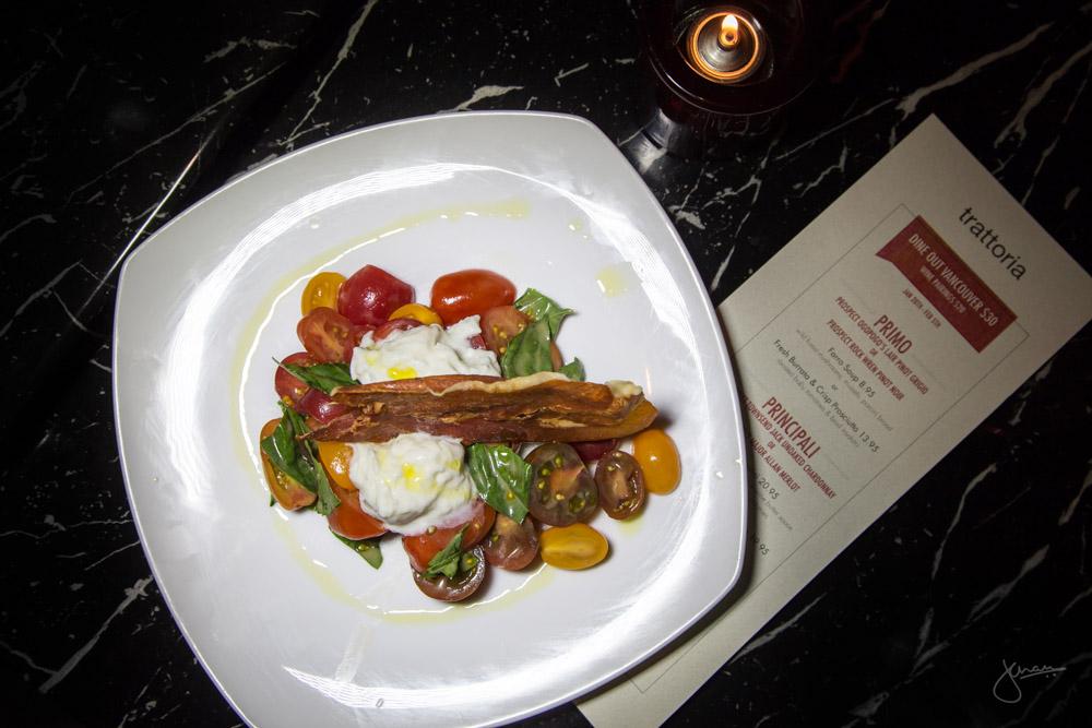 Fresh Burrata & Crisp Prosciutto - Roasted Baby Tomatoes & Basil Insalata