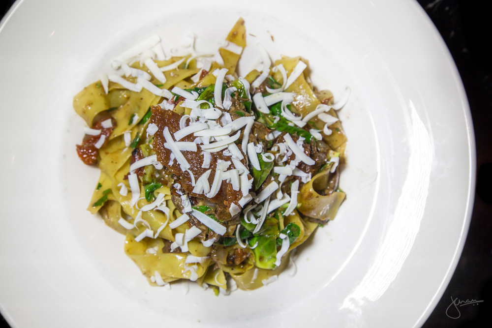 Braised Beef Cheek Pappardelle - braised kale, pear & apple mostarda