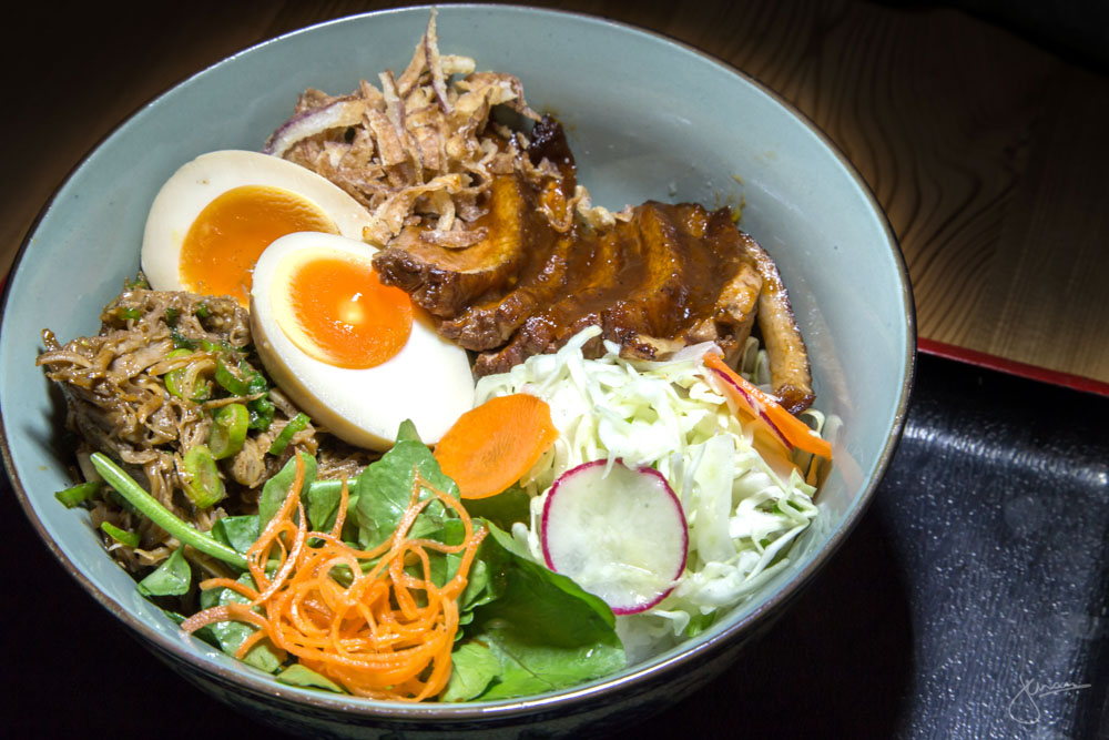Rice Bowl with Duck & shredded Pork Belly