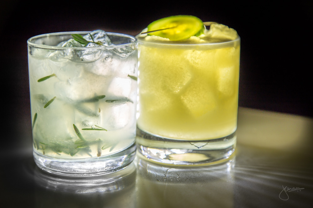 Flaming Rosemary Gimlet & Yuzu Sour