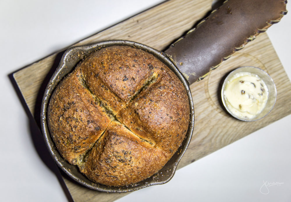 ARC Skillet Bread - heritage grain, caramelized honey, lavender butter, rooftop herbs