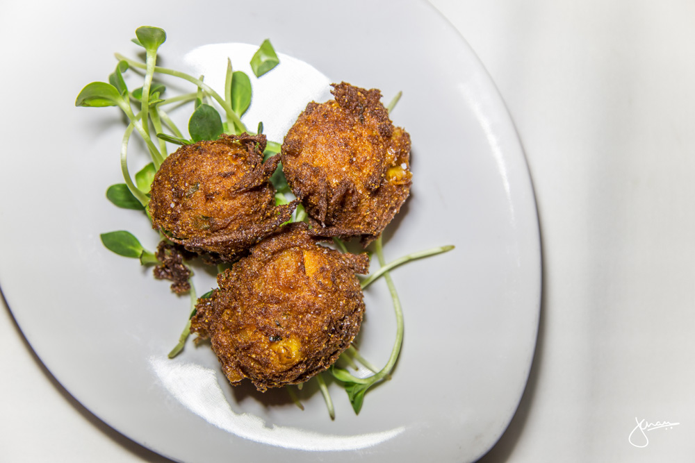 Butternut Squash Fritters - corn, scallion