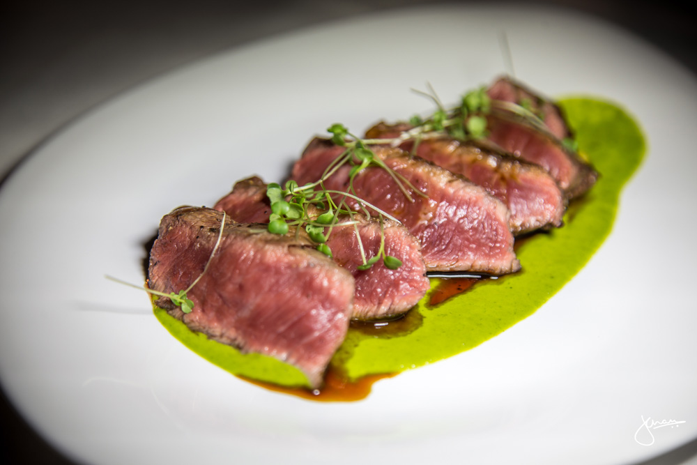 Grilled Flatiron Steak - sorrel & citrus cream