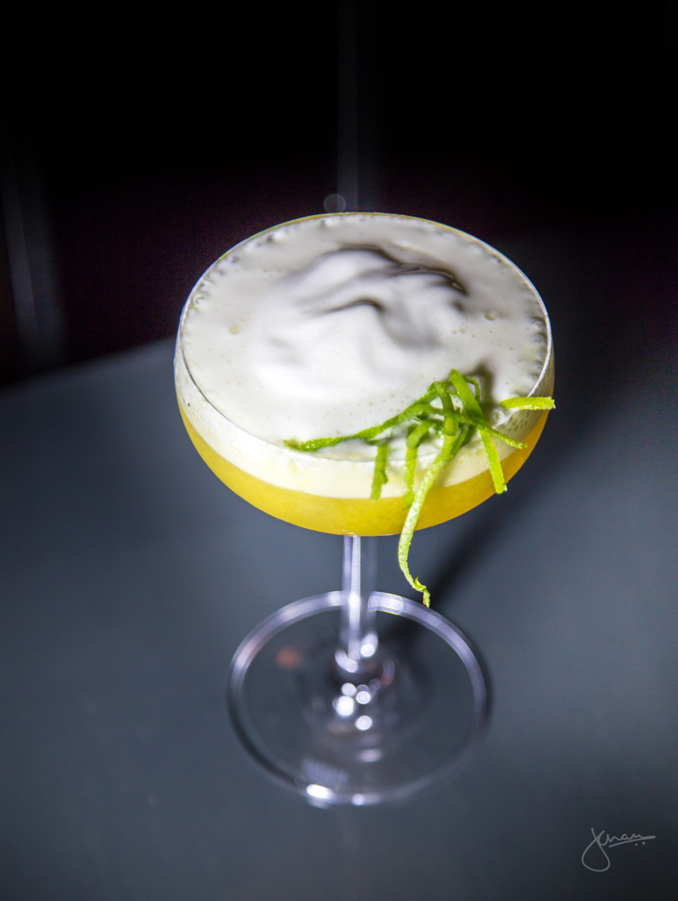 Post Opium - this daiquiri is better than dope. 3 year rum, passionfruit purée, lime, bambudda bitters, zephyr white chocolate, calvados and sherry foam