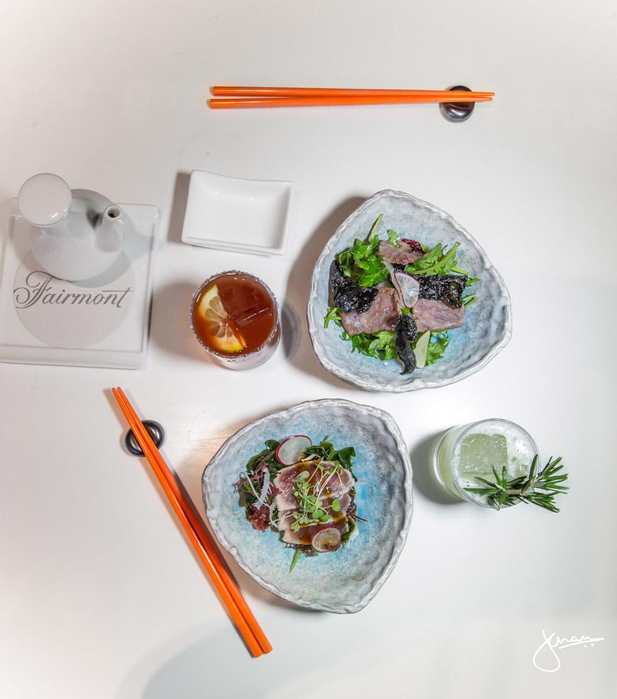 Red Tuna Tataki & Torched Wagyu Beef Salad