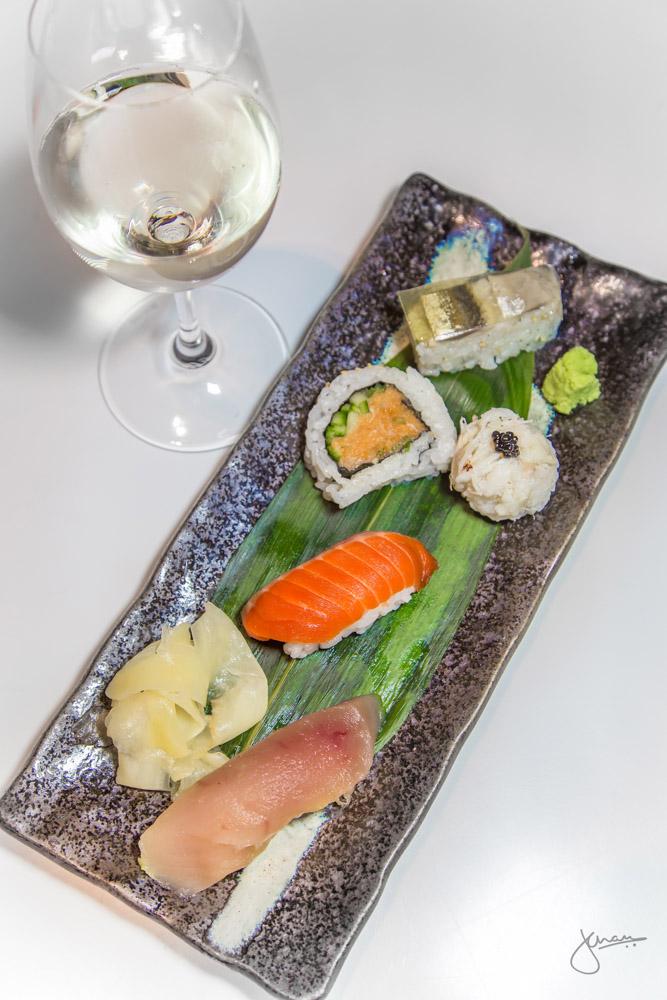 Sushi Omakase + Sparkling Junmai Sake - maki, nigiri, hako, temari