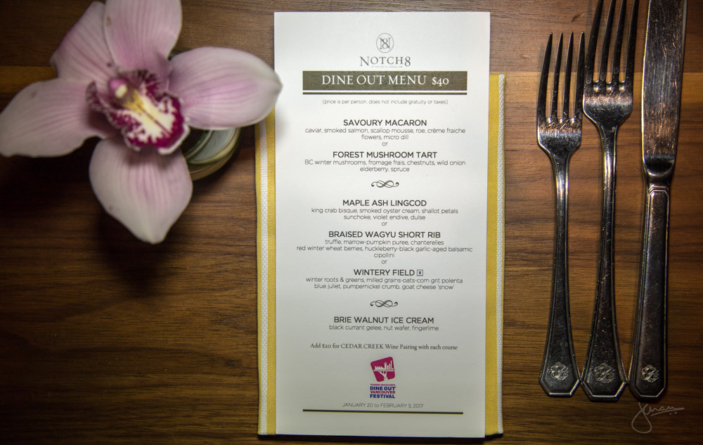 Notch8 Dine Out Menu