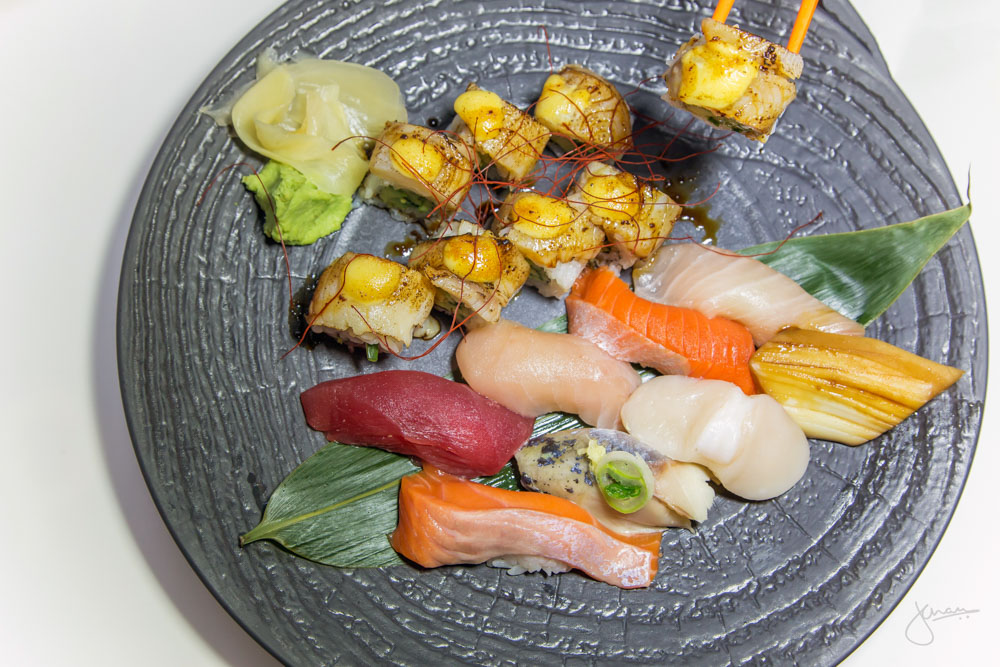 Assorted Nigiri & Sable Motoyaki Roll