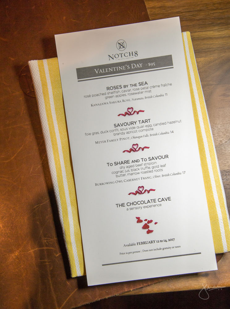 Notch8 Valentine's Day Menu