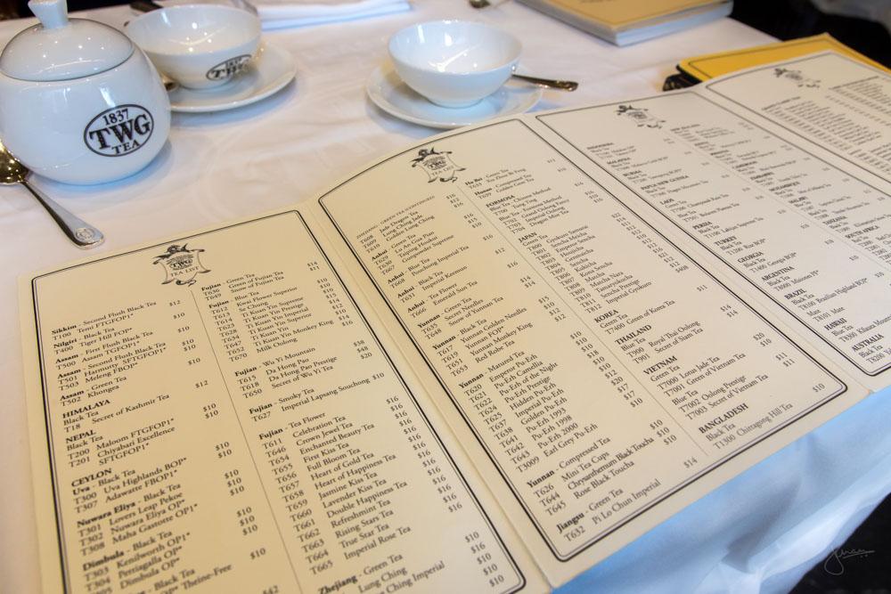 TWG Tea Canada Tea List