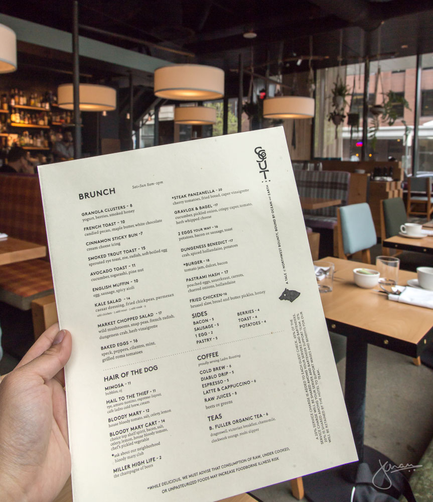 Scout Brunch Menu