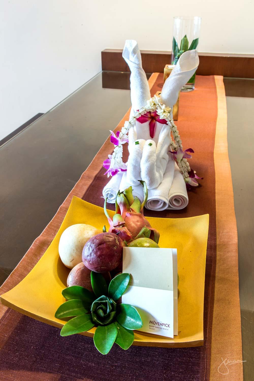 Welcome Fruit Basket & Towel Art