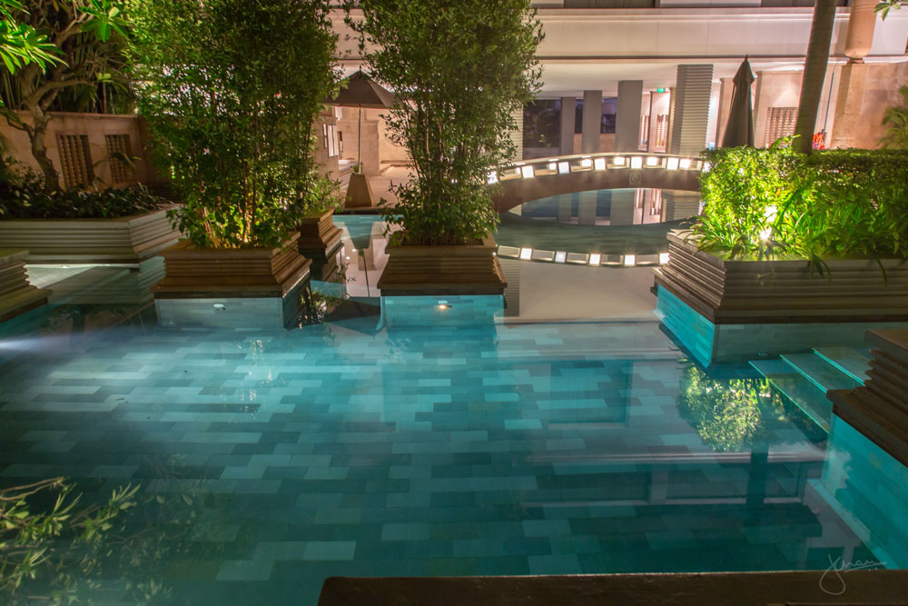 Park Hyatt Siem Reap Pool at Night