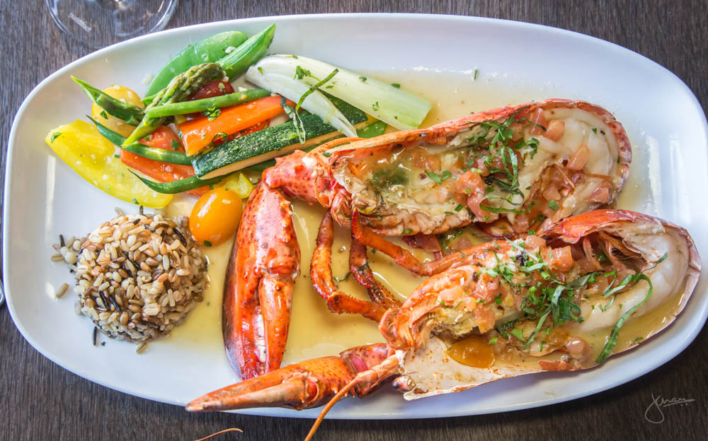 WHOLE ATLANTIC LOBSTER | sautéed provençal style, seasonal vegetables, seven grain rice Wine Pairing: Reichsrat von Buhl Spatburgunder Rosé Trocken 2014 Pfalz, Germany
