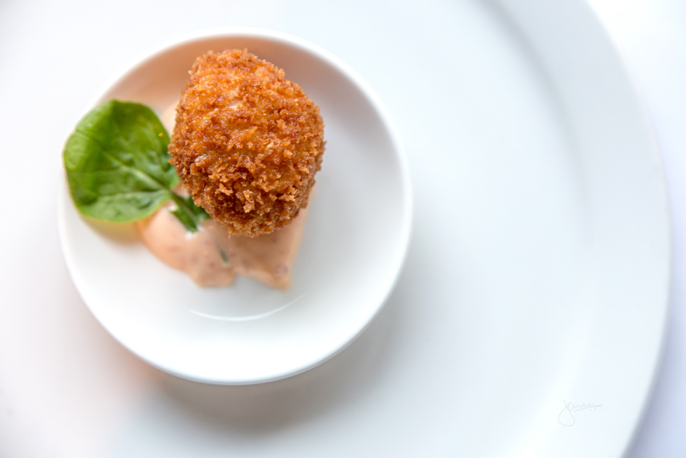 Amuse Bouche - Deep Fried Risotto Ball