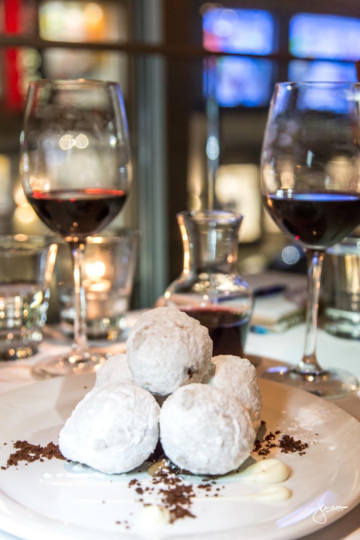 Zeppole al Cioccolato |italian style doughnuts, chocolate gianduja, vanilla crème anglaise