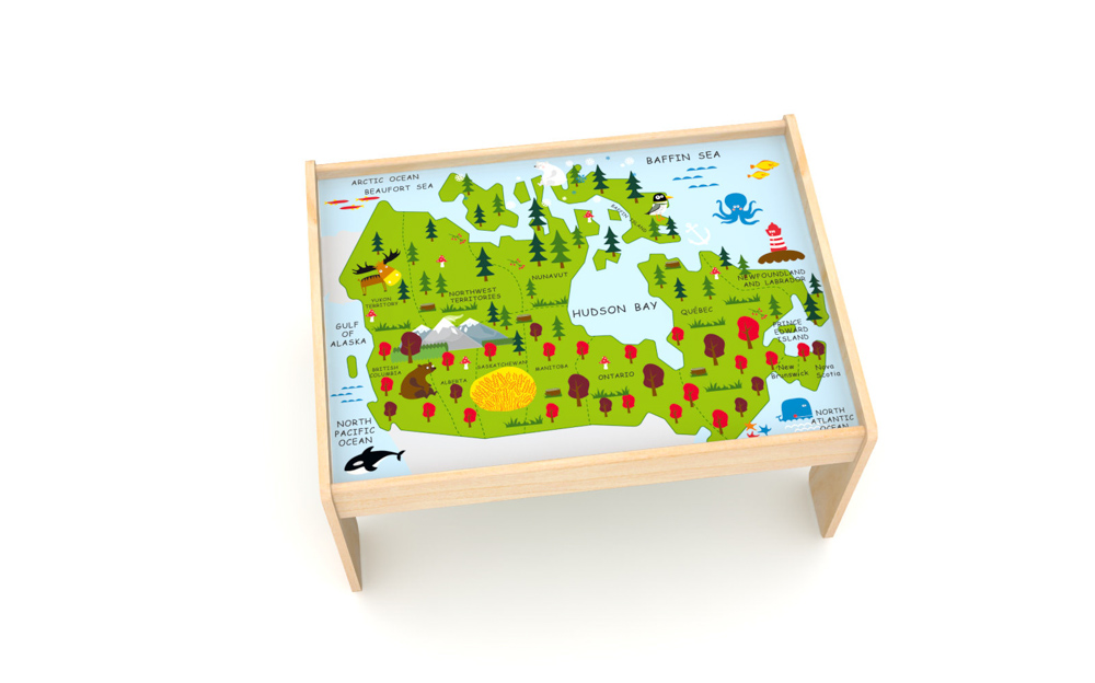 HAPE X INDIGO GREAT CANADIAN RAILWAY TRAIN TABLE