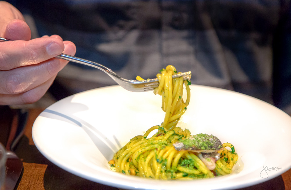 Sicily | Spaghetti, Sardines, Currents, Pine Nuts, Saffron