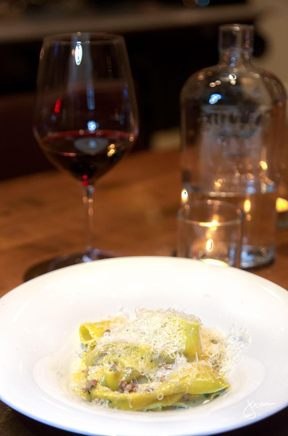 Florence | Pappardelle, Wild Boar Prosciutto and Rabbit Ragu Wine Pairing: Tenuta Guado al Tasso il Bruciato