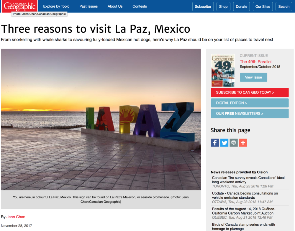 CanGeo Press Trip to La Paz