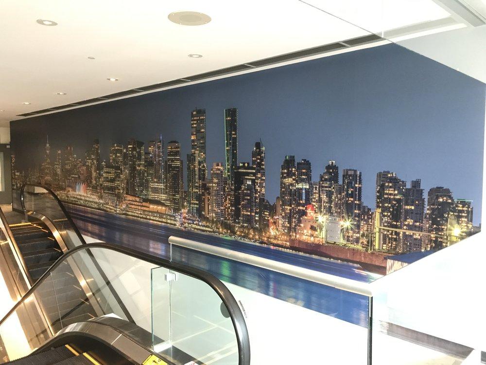 "497"" x 108"" Wall Installation at CTV"