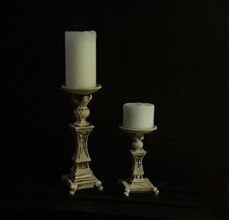 Old candle holders, repainted and antiqued