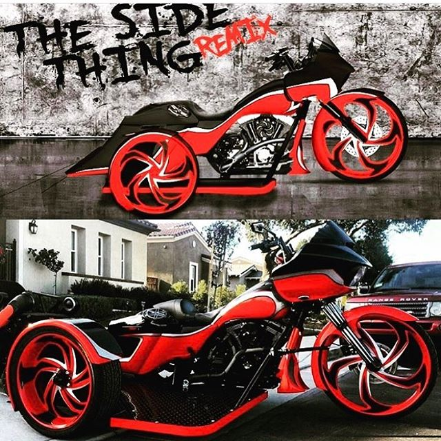 Check out the before and after picture of a bike using DTR Builder thanks @thesidething_remix