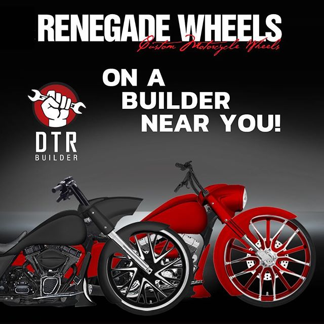 We are happy to welcome @renegadewheels to our builder! Build a bike with their wheels on a builder near you! #dtrbuilder #dealers4dtr #dtr #unitingtheindustry #harley #roadking #renegadewheels #welcome #baggers #baggernation #americanbagger