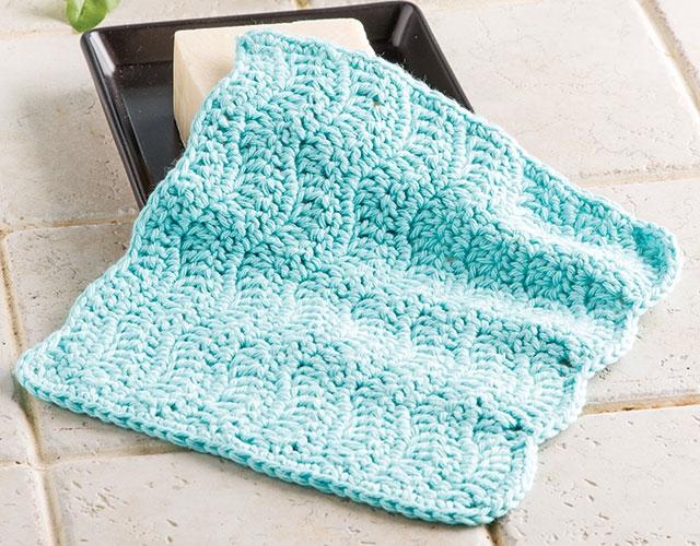 Blue Waves Washcloth