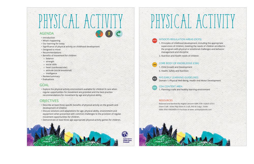 Training material.  branding, design, layout, print