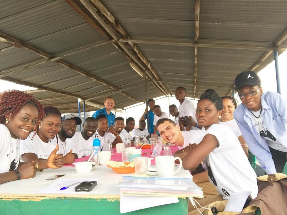 Our MI participants just before they headed out on their Amazing Race: Accra Edition.