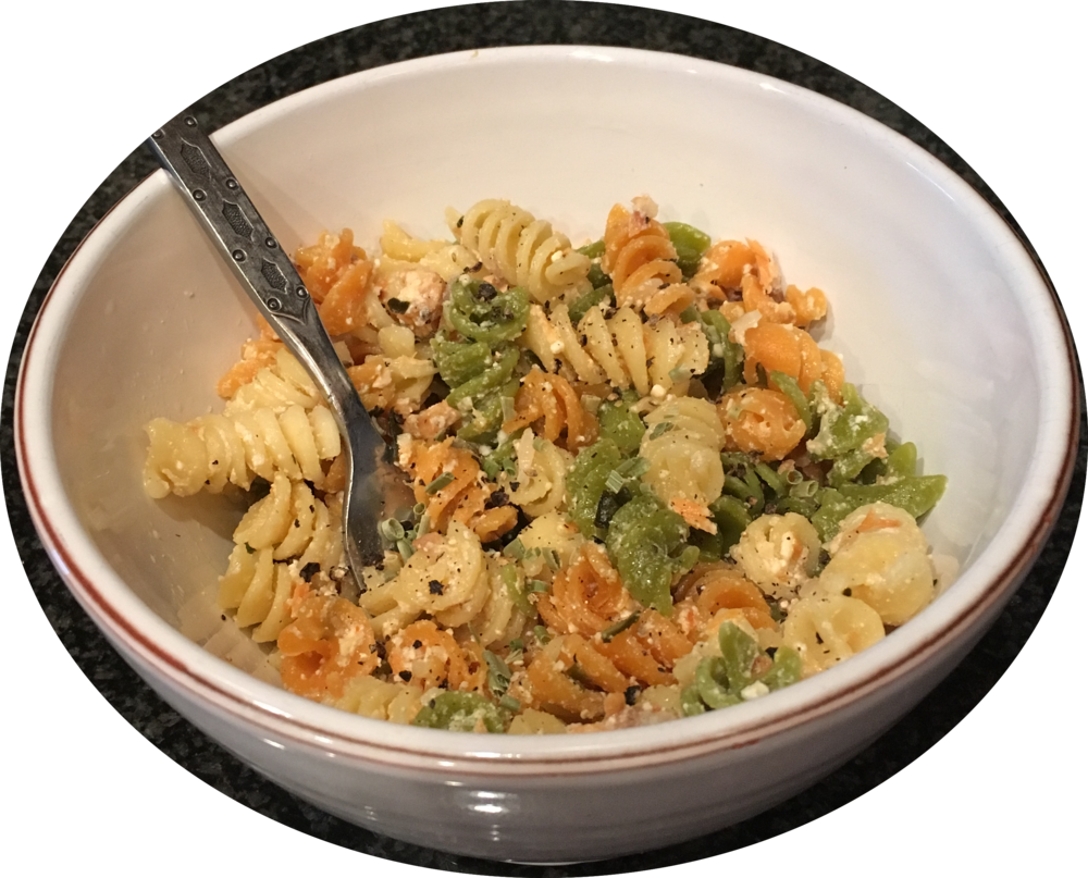 Medicated Creamy Smoked Salmon Pasta  - Medicated with CBD using Big Horn Oil Company's olive oil infused by Cannabella Kitchen with CBD isolate - avoid the THC!