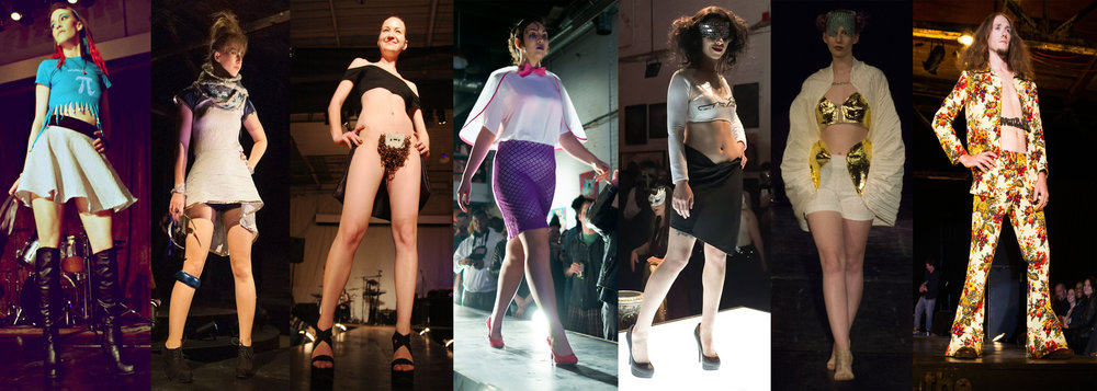 Runway shots from different collections under the Stein Van Bael label in order: Rust & Rag, Astral Knot, A'Merkin Show, Visqueen, Damned, Venus Rising, Davenport. Hautomatic photos soon to come!