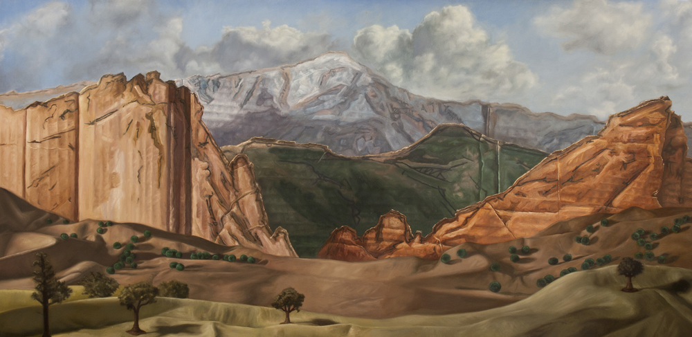 "Pike's Peak  Oil on Panel 24"" x 48"" 2012"