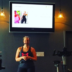 Steph presenting at her SOLD OUT EVENT at PUSH spin studios
