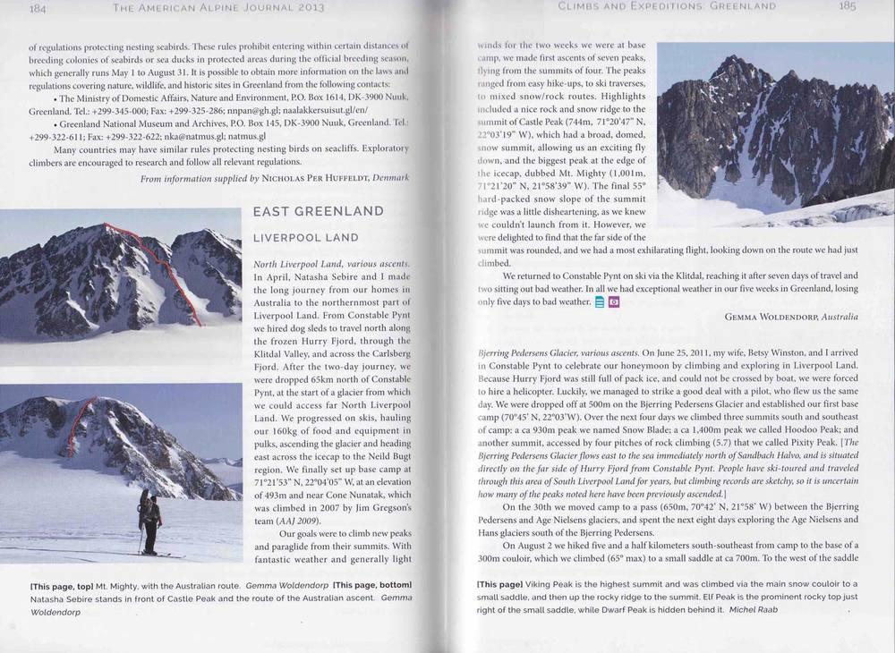 American Alpine Journal 2013