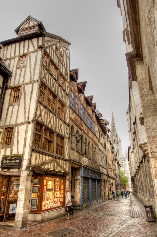 Picturesque town of Rouen, France
