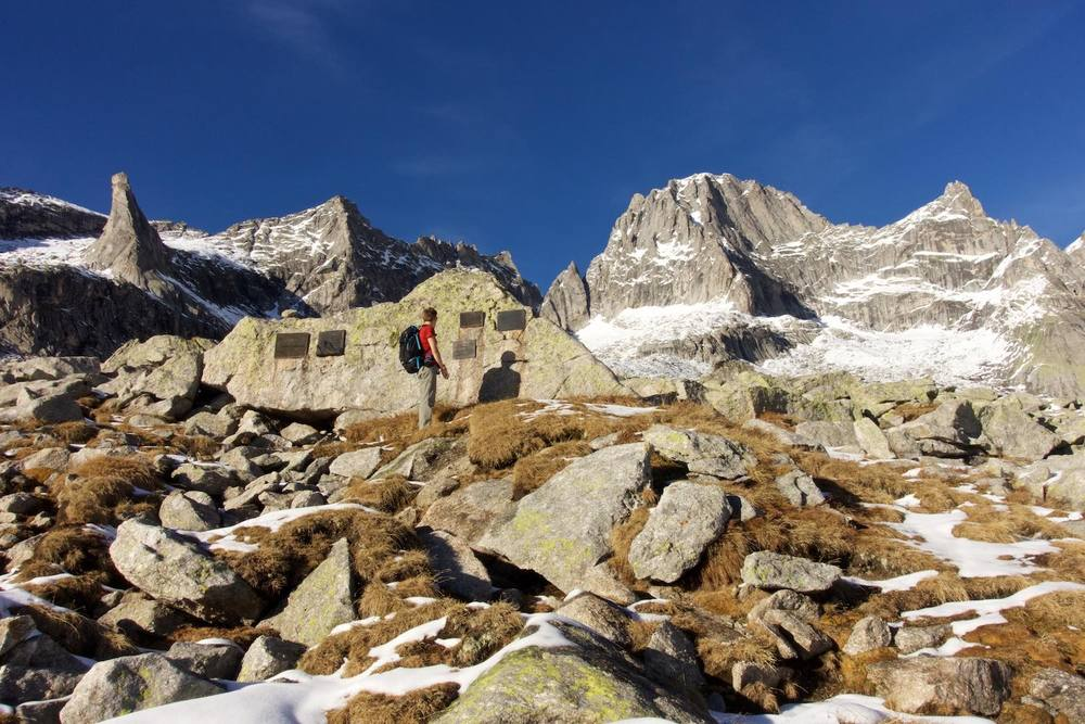Hike up to Rifugio Gianetti near Pizzo Badile, Val Masino