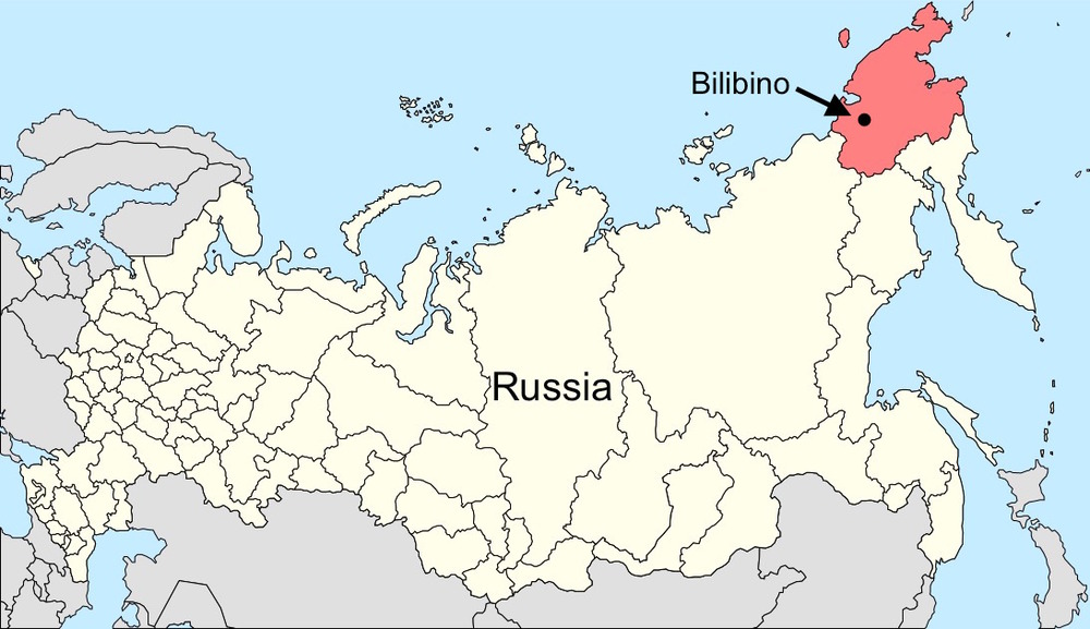 Russia with the Chukotka Autonomous Region in red (click for larger image).